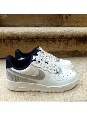NIKE AIR FORCE BIANCA ARGENTO UOMO DONNA