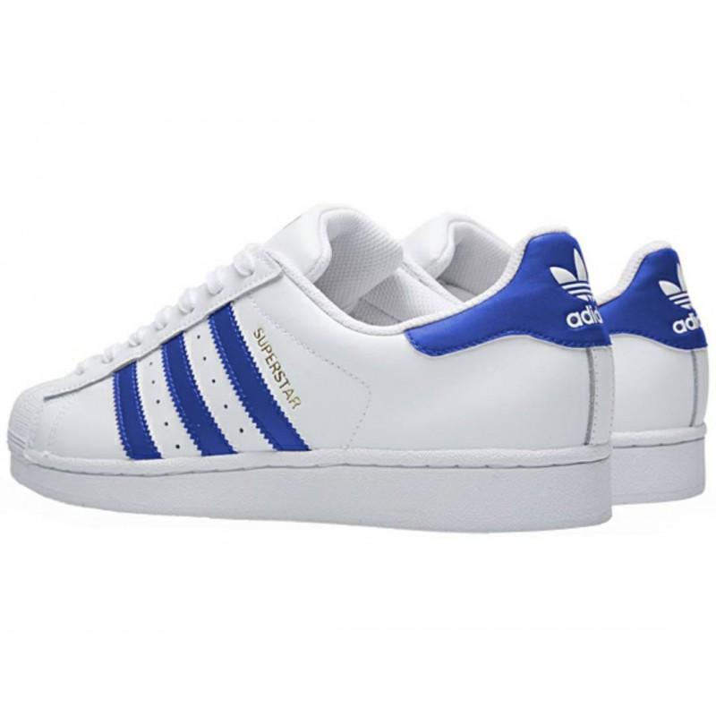 scarpe adidas superstar bianche e blu
